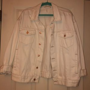 Free People off white boyfriend style denim jacket